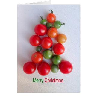 Tarjeta de felicitación del árbol de navidad del