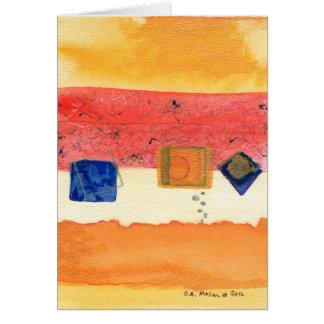 Tarjeta de felicitación del arte abstracto de la