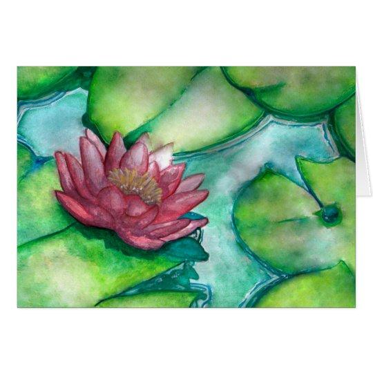 Tarjeta de felicitación del arte de la flor