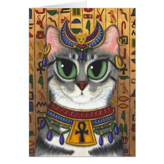 Tarjeta de felicitación del arte del gato de