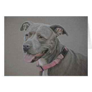 Tarjeta de felicitación del arte del perro del