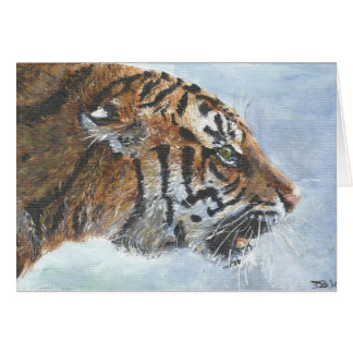 Tarjeta de felicitación del arte del tigre