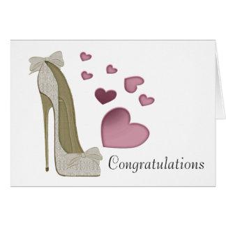 Tarjeta de felicitación del arte del zapato del