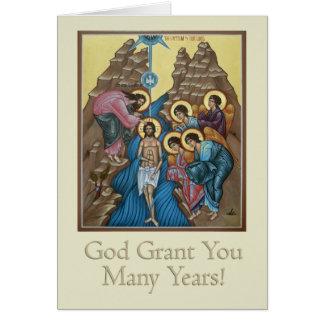 Tarjeta de felicitación del bautismo
