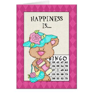 Tarjeta de felicitación del bingo del cumpleaños