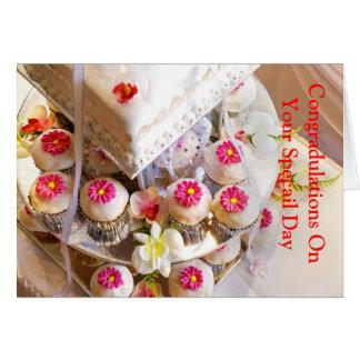 Tarjeta de felicitación del boda