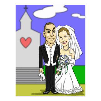 Tarjeta de felicitación del boda de Elisabeth Postales