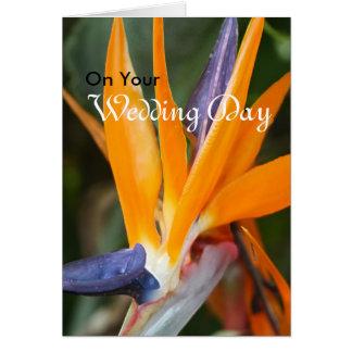Tarjeta de felicitación del boda de la ave del