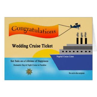 Tarjeta de felicitación del boda del barco de