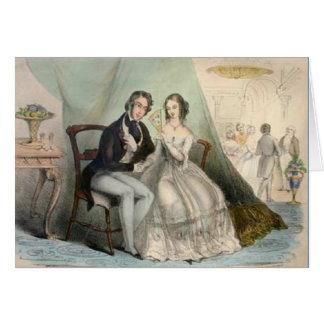 Tarjeta de felicitación del boda del Victorian