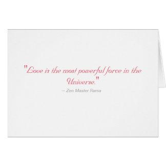 Tarjeta de felicitación del boda: El amor es la