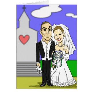 Tarjeta de felicitación del boda para Elisabeth