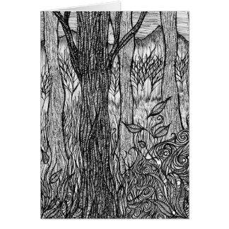 Tarjeta de felicitación del bosque