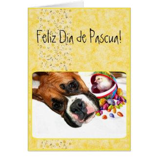 Tarjeta de felicitación del boxeador de Feliz Dia