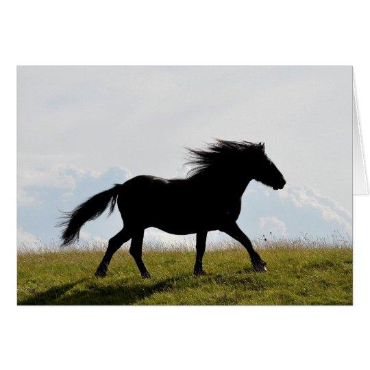 Tarjeta de felicitación del caballo
