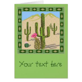 tarjeta de felicitación del cactus del desierto