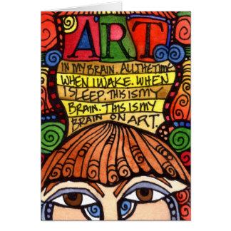 Tarjeta de felicitación del CEREBRO del ARTE