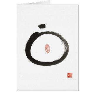 Tarjeta de felicitación del círculo del zen