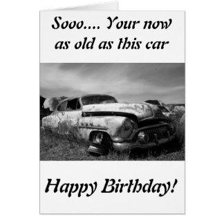 Tarjeta de felicitación del coche de Buick Classic