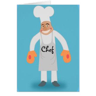 tarjeta de felicitación del cocinero