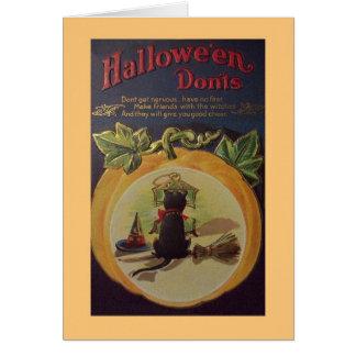 Tarjeta de felicitación del consejo de Halloween