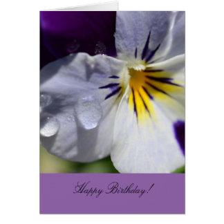 Tarjeta de felicitación del cumpleaños con la flor