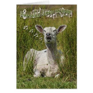 Tarjeta de felicitación del cumpleaños de las ovej