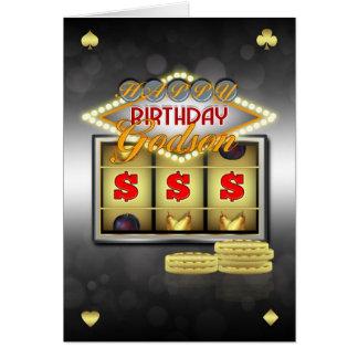 Tarjeta de felicitación del cumpleaños del ahijado