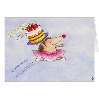 Tarjeta de felicitación del cumpleaños del ballet