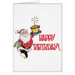 Tarjeta de felicitación del cumpleaños del navidad