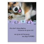 Tarjeta de felicitación del cumpleaños del perrito