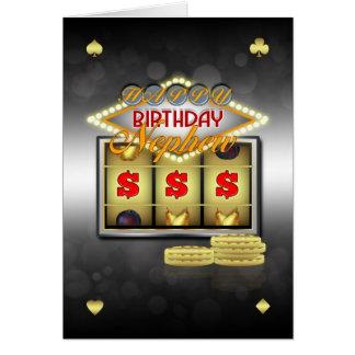 Tarjeta de felicitación del cumpleaños del sobrino