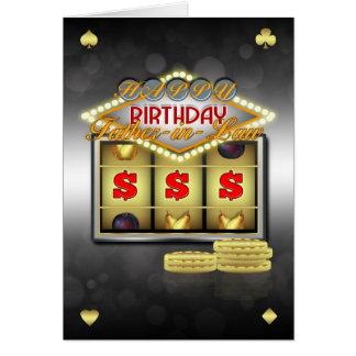 Tarjeta de felicitación del cumpleaños del suegro