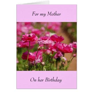 Tarjeta de felicitación del cumpleaños - madre