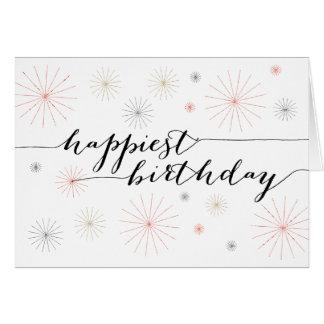 Tarjeta de felicitación del cumpleaños más feliz