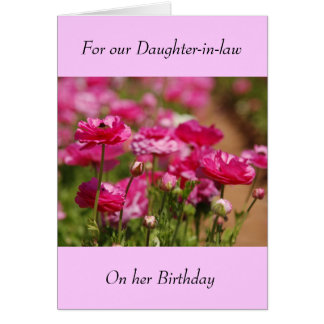 Tarjeta de felicitación del cumpleaños - nuera