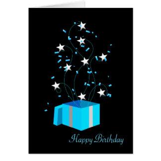 Tarjeta de felicitación del cumpleaños - oficina