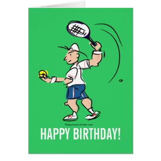 Tarjeta de felicitación del cumpleaños para el