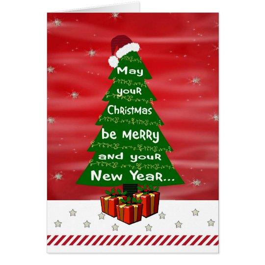 Tarjeta de felicitación del deseo del navidad de