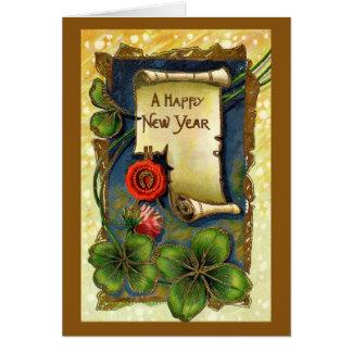 Tarjeta de felicitación del día de Años Nuevos del