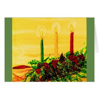 tarjeta de felicitación del día de fiesta con el