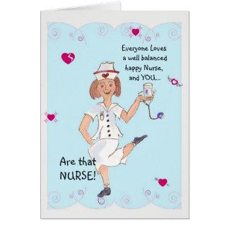 Tarjeta de felicitación del día de la enfermera