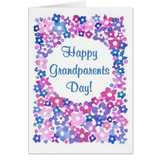 Tarjeta de felicitación del día de los abuelos del