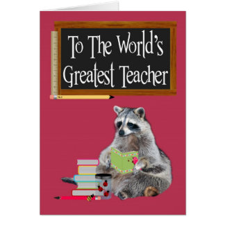 Tarjeta de felicitación del día de los profesores