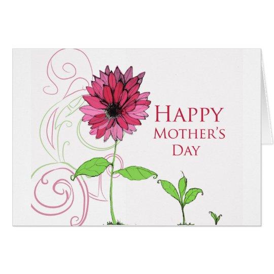 Tarjeta de felicitación del día de madre