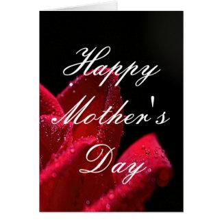 Tarjeta de felicitación del día de madre del rosa