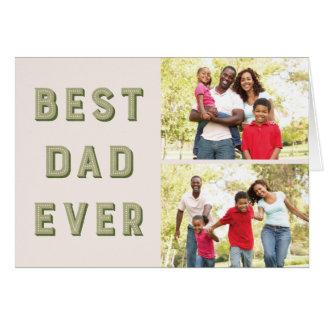 Tarjeta de felicitación del día de padre de la