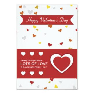 Tarjeta de felicitación del día de San Valentín Invitación 12,7 X 17,8 Cm