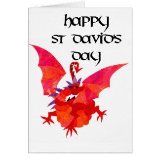 Tarjeta de felicitación del día de St David -