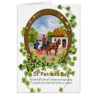 Tarjeta de felicitación del día de St Patrick